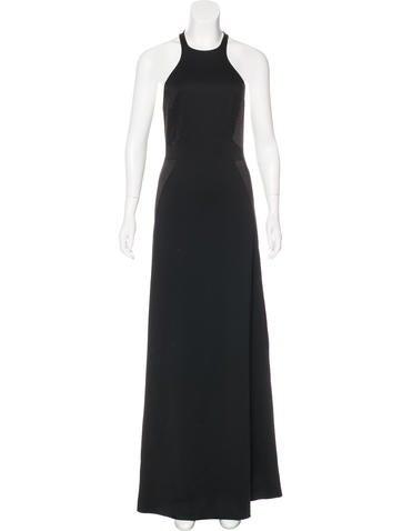 Halston Heritage Sleeveless Maxi Dress None