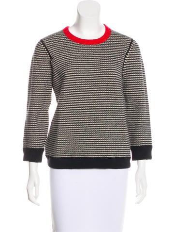 Halston Heritage Wool Blend Knit Sweater None