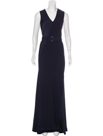 V-Neck Sleeveless Gown