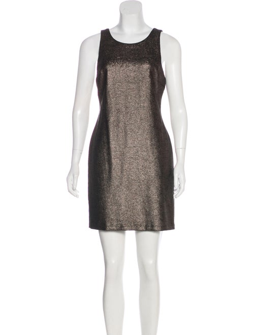 Halston Heritage Metallic Mini Dress w/ Tags Metal