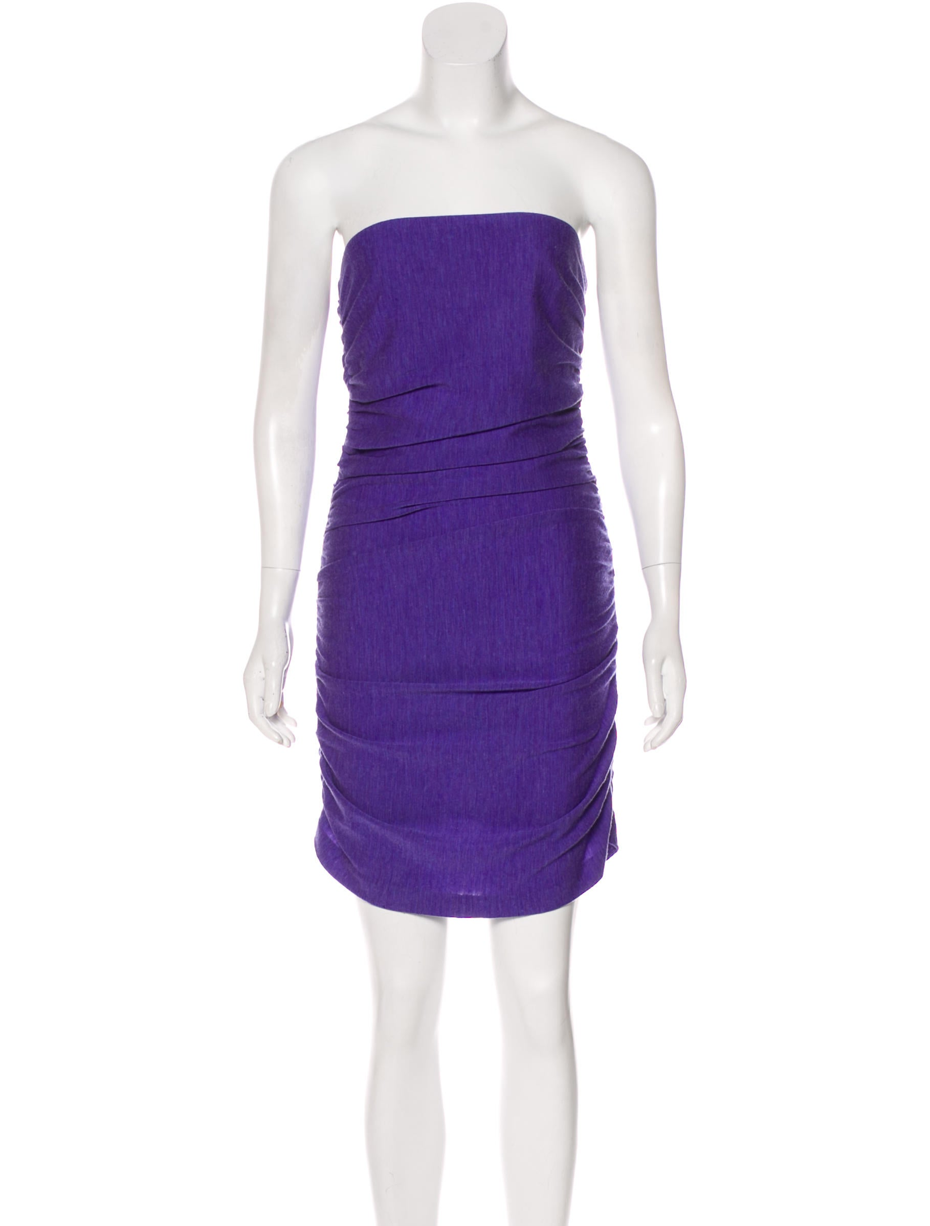 ff55f3bb762 Halston Heritage Wool Ruched Dress - Clothing - WH128950