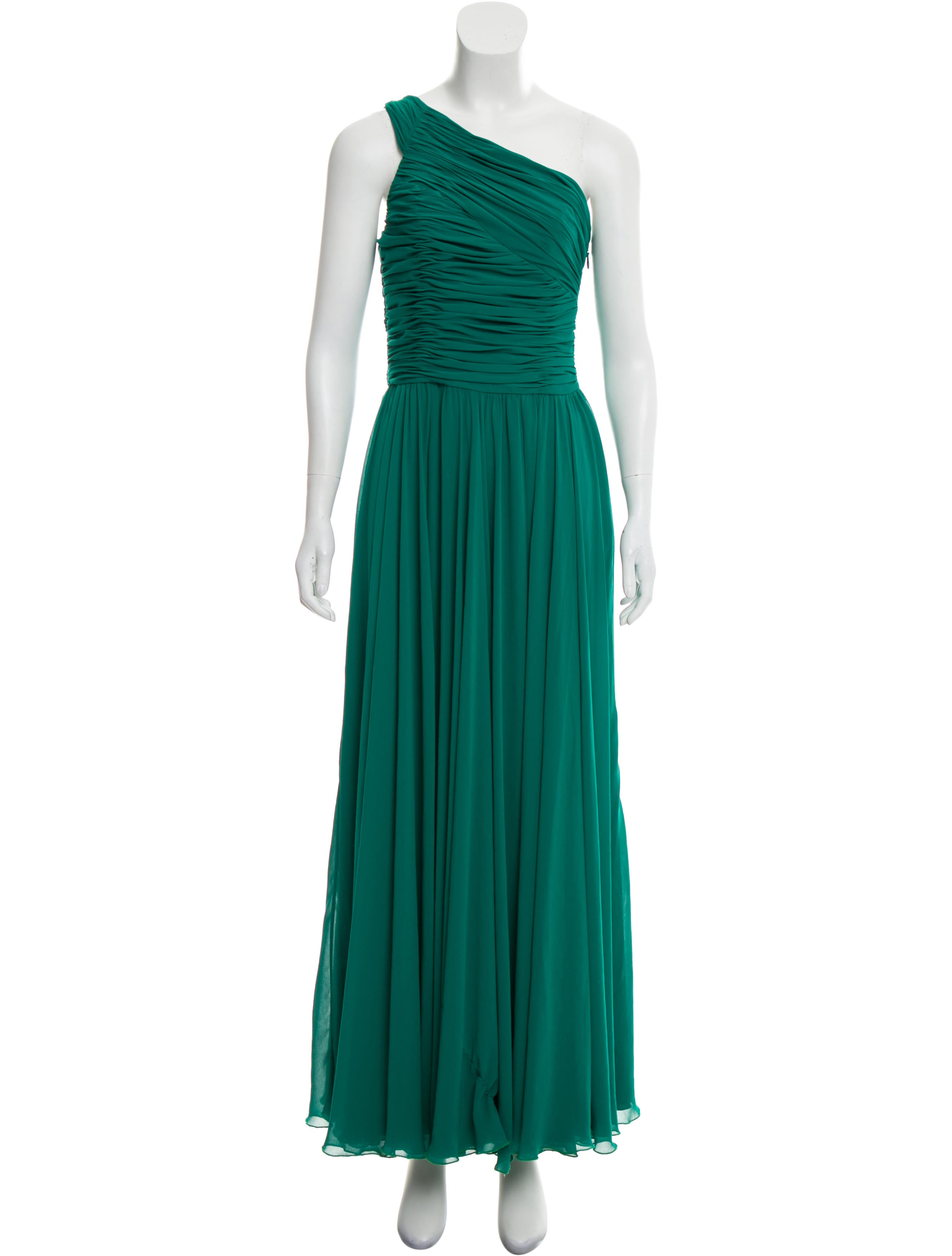 Halston Heritage One-Shoulder Evening Dress - Clothing - WH129447 ...