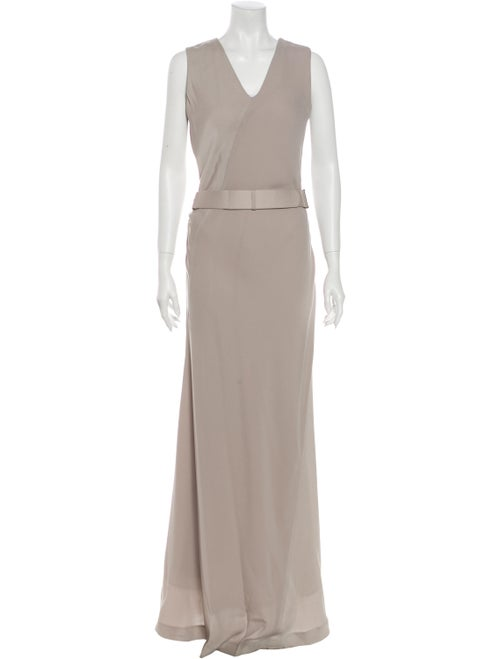 Halston Heritage V-Neck Long Dress