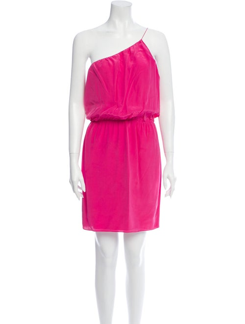 Halston Heritage Silk Mini Dress Pink