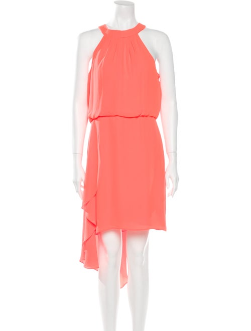 Halston Heritage Midi Length Skirt Orange