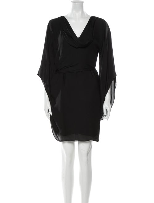 Halston Heritage Silk Mini Dress Black