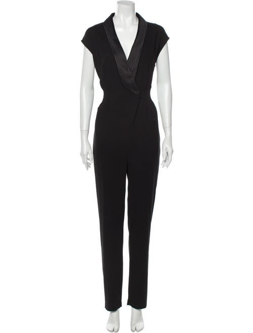Halston Heritage V-Neck Jumpsuit Black