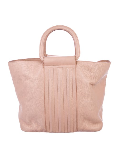 Halston Heritage Grained Leather Tote Pink