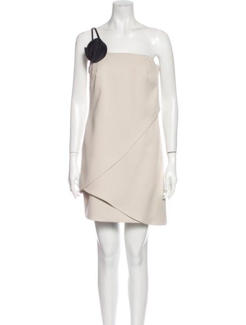 Halston Heritage One-Shoulder Mini Dress