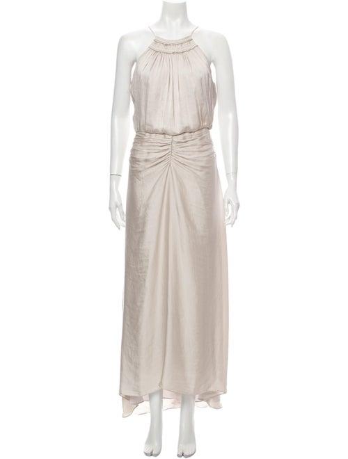 Halston Heritage Halterneck Long Dress