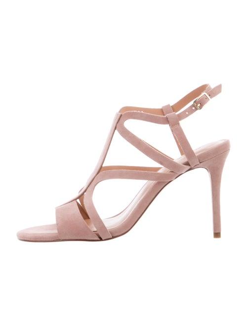 Halston Heritage Suede Sandals Pink