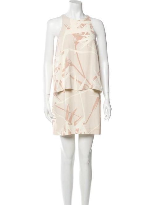 Halston Heritage Printed Mini Dress
