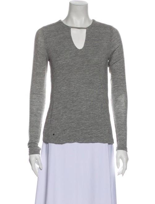Halston Heritage V-Neck Sweater Grey