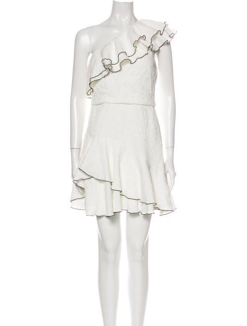 Halston Heritage One-Shoulder Mini Dress White