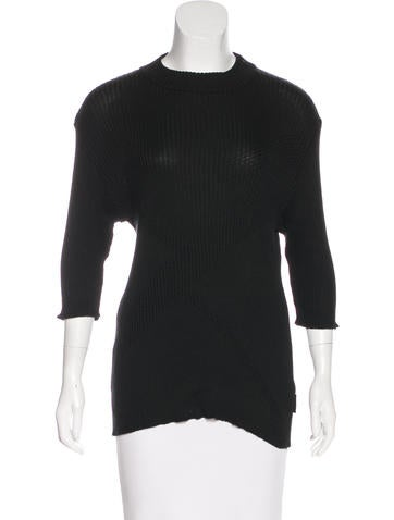 V2 Versace Classic Contrasting Rib Knit Sweater None