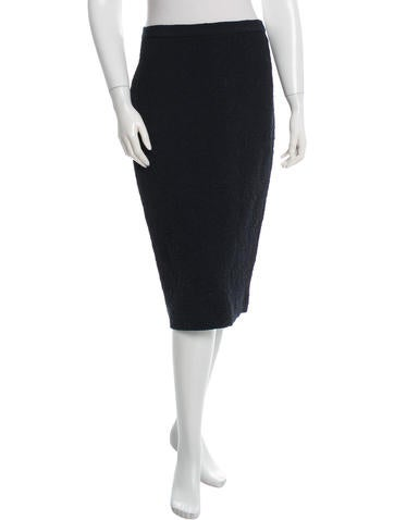 Hache Textured Knee-Length Skirt w/ Tags