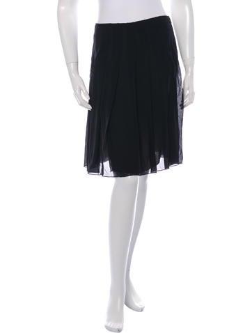 Hache High-Waist Pleated Skirt