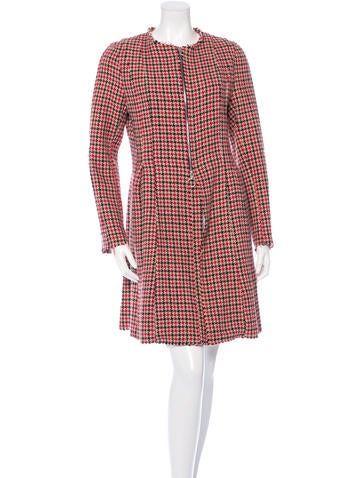 Hache Raw-Edged Houndstooth Coat None