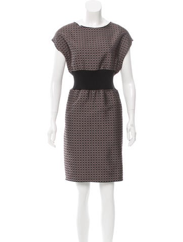 Hache Jacquard Knee-Length Dress None
