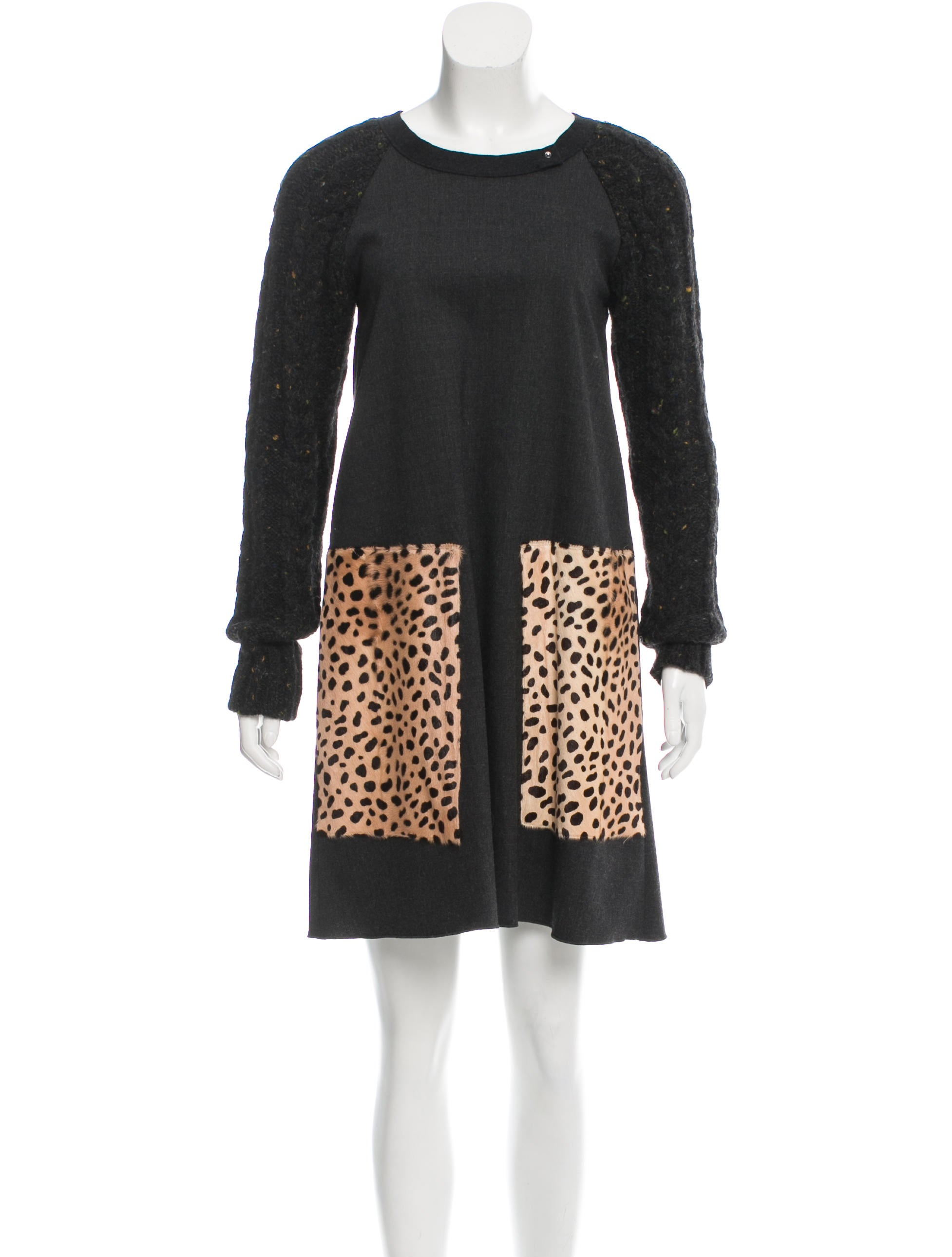 Hache Wool Sweater Dress - Clothing - WH421314 | The RealReal