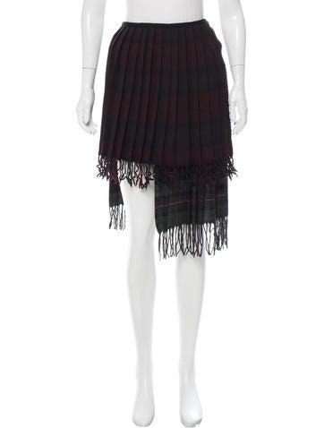 Hache Asymmetrical Wool Skirt w/ Tags None