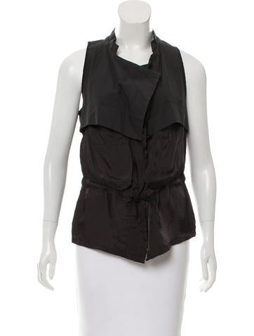 Hache Contrast Button-Up Top None