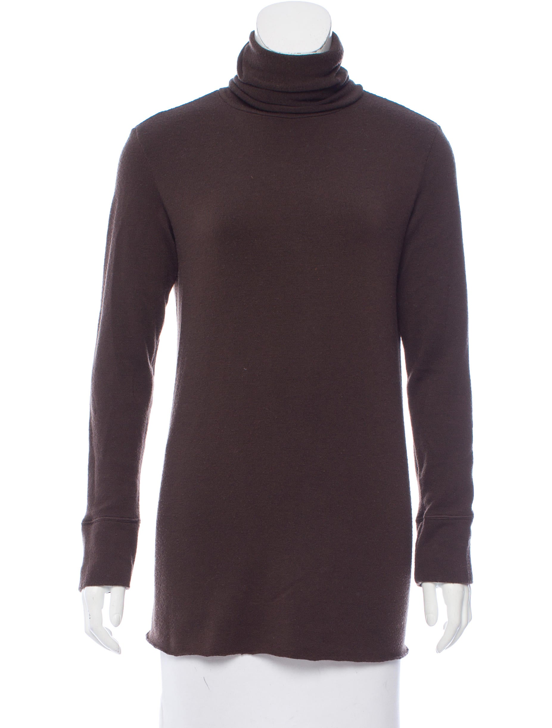 Hache turtleneck wool top clothing wh421487 the realreal for Best wool shirt jackets