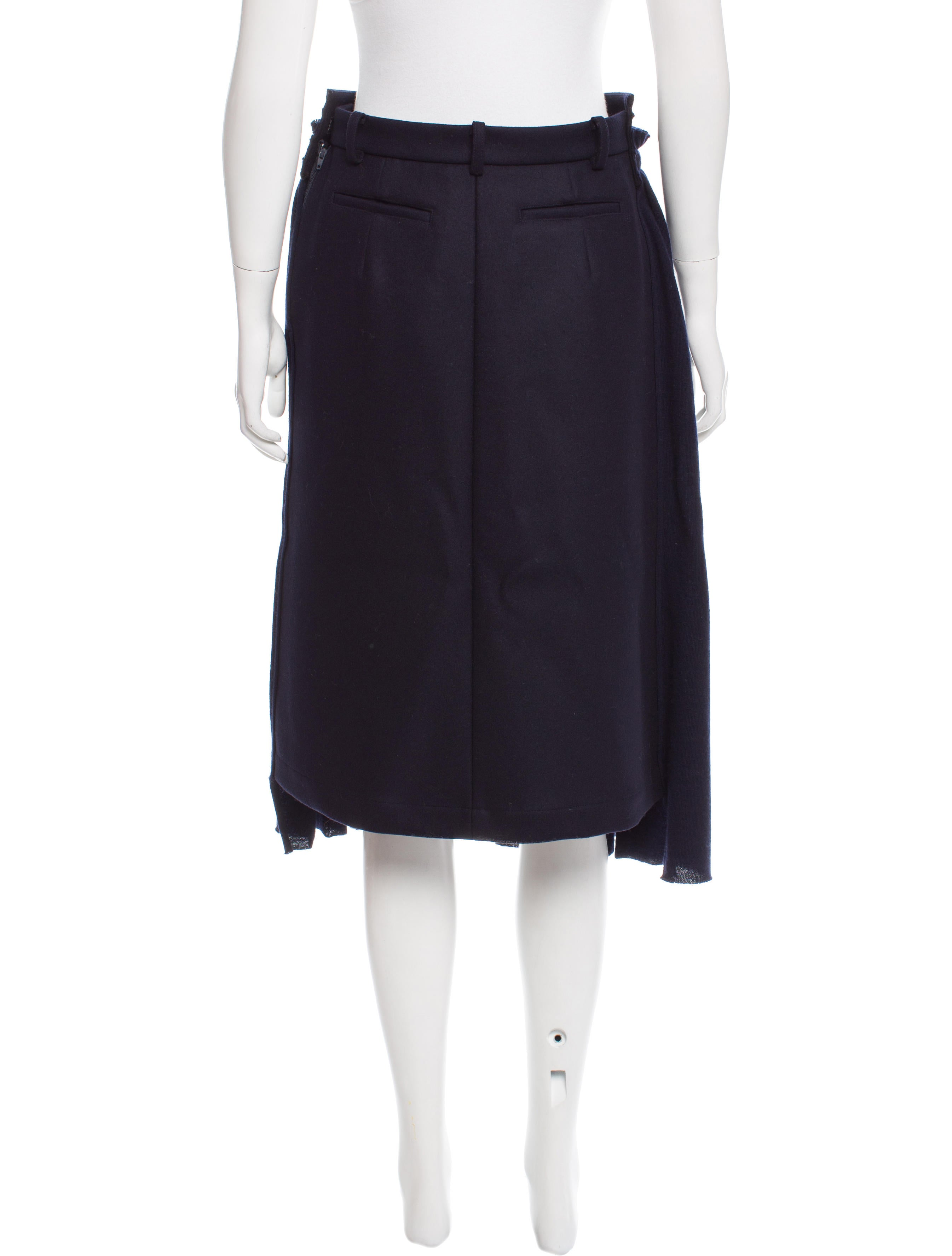 hache wool midi skirt clothing wh421533 the realreal