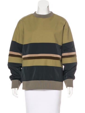 Hache Striped Long Sleeve Sweater None