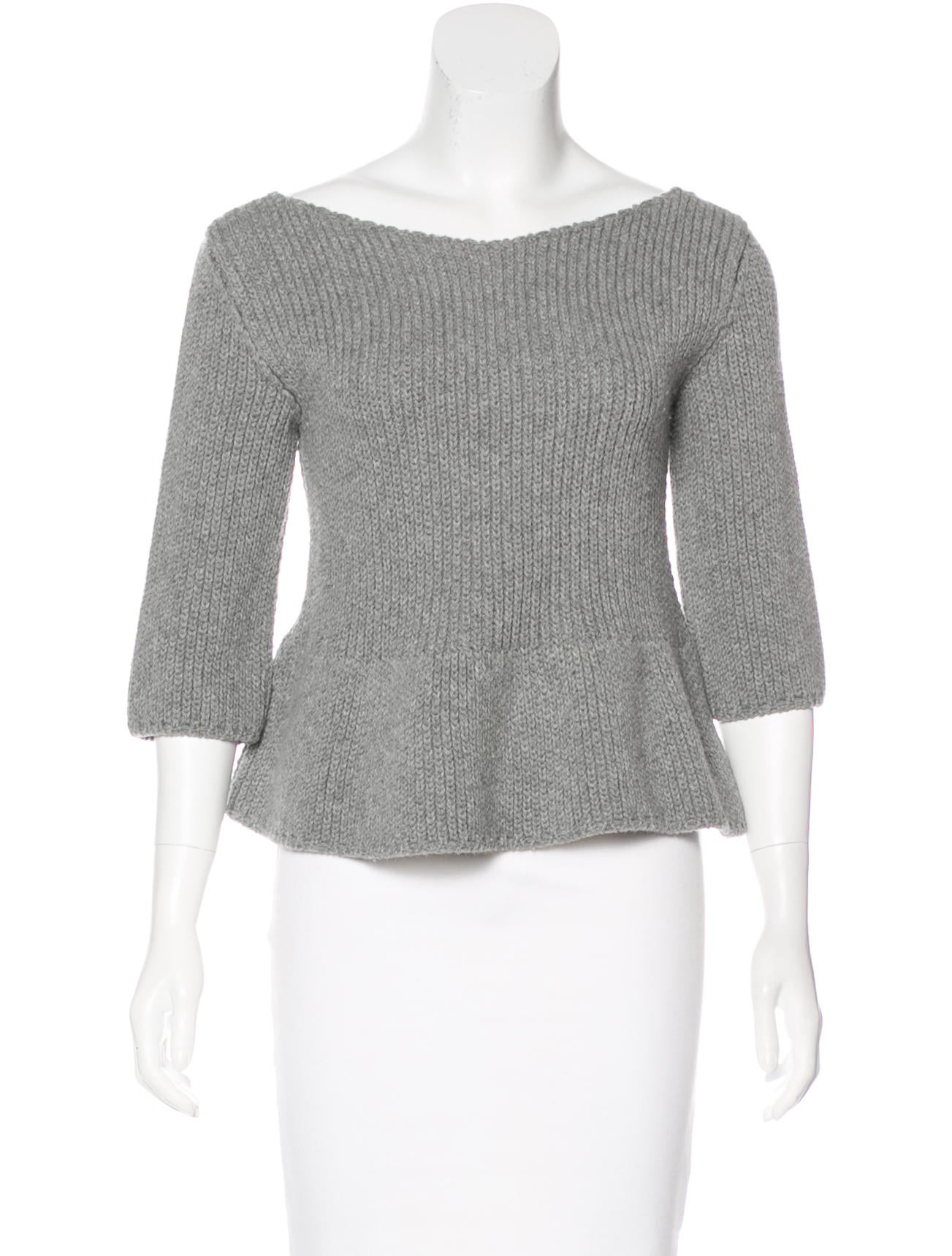 Hache Wool Cropped Sweater - Clothing - WH421708 | The RealReal