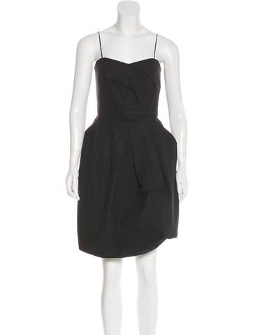 Hache Knee Length Strapless Dress Clothing Wh422059 The Realreal
