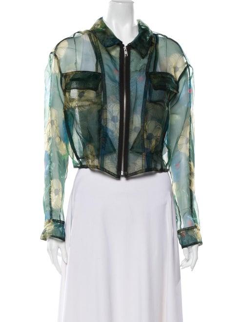 Hache Tie-Dye Print Jacket Green