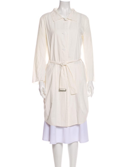 Hache Trench Coat White