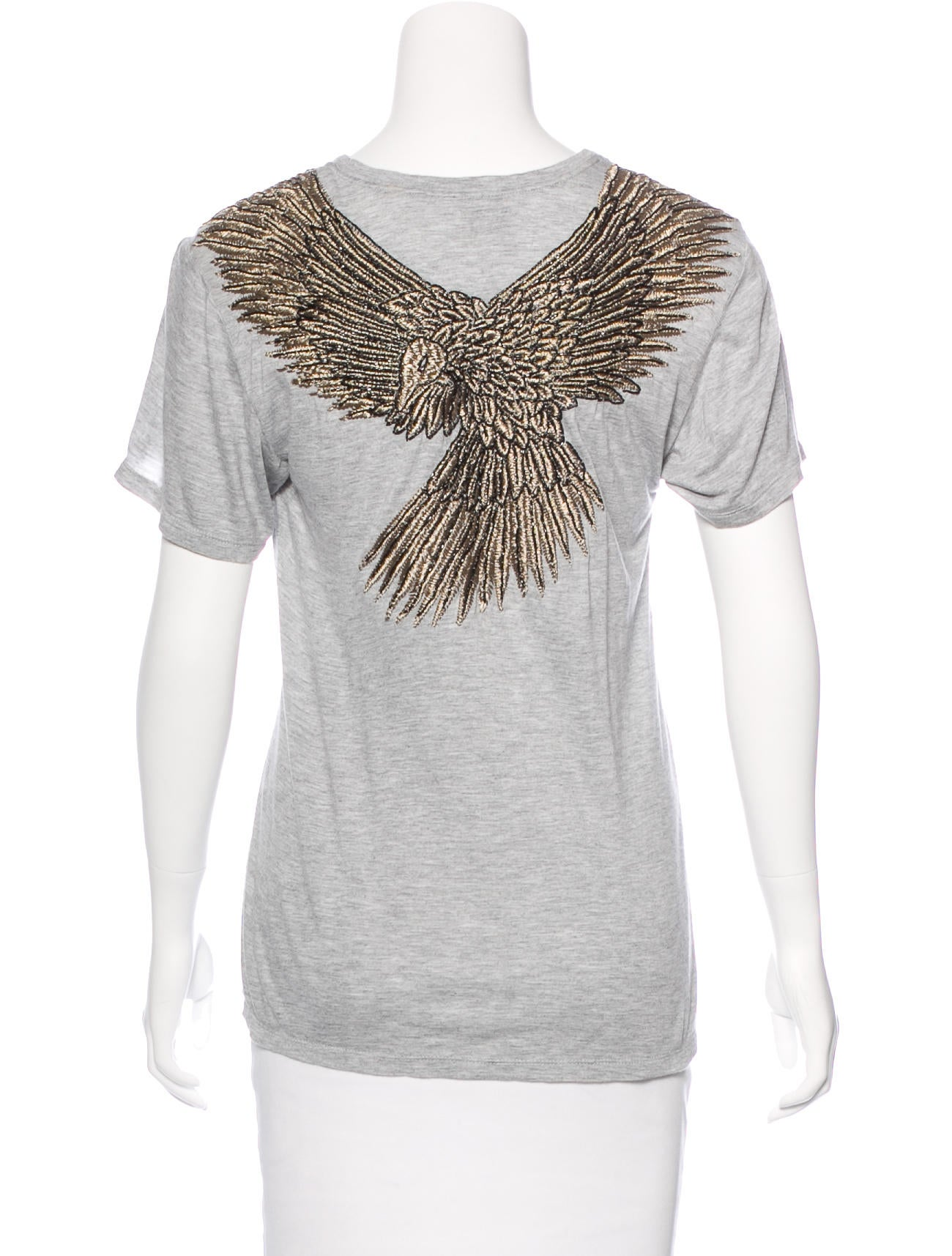 haute hippie embroidered eagle t shirt clothing. Black Bedroom Furniture Sets. Home Design Ideas