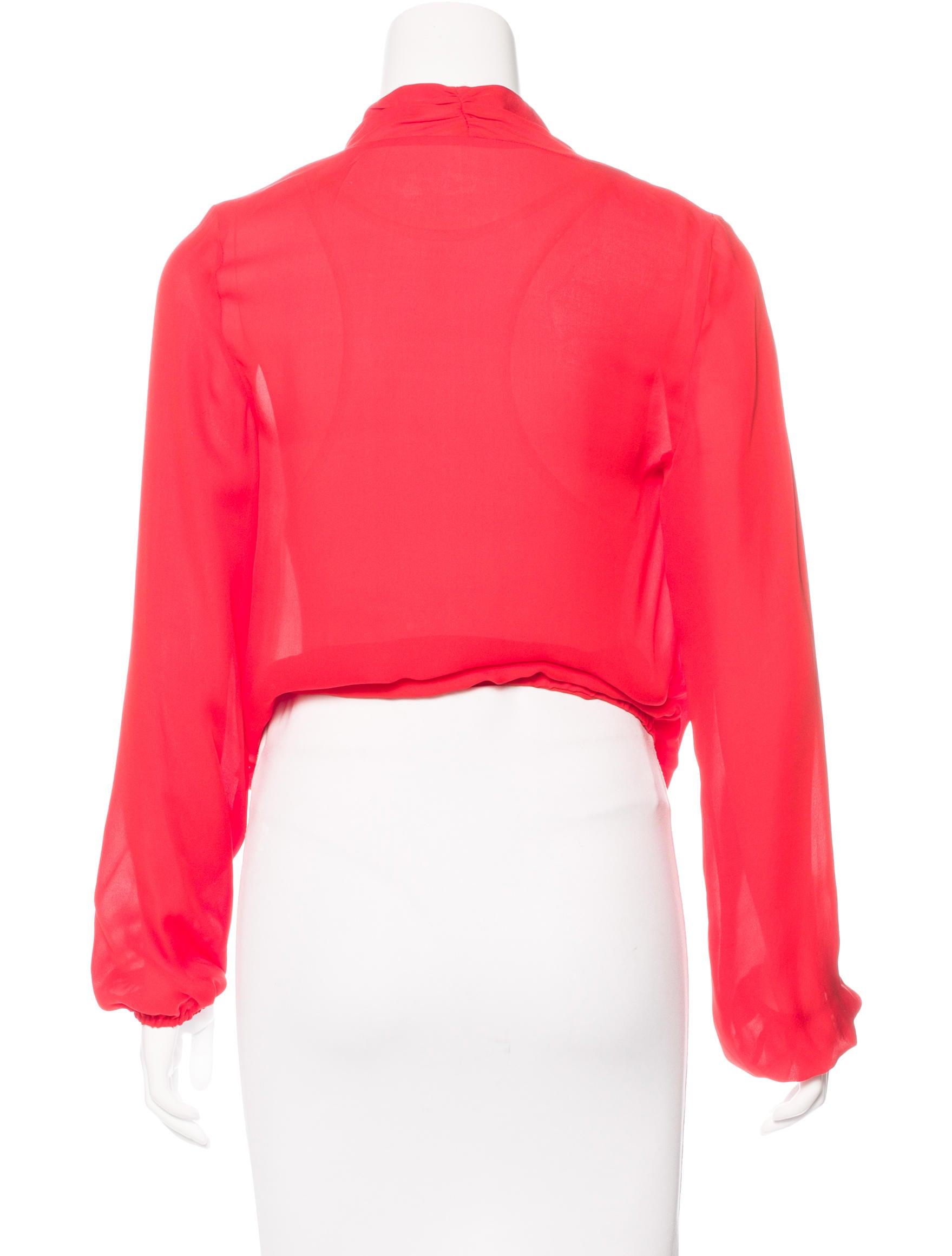 Haute Hippie Long Sleeve Silk Top Clothing Wh621439