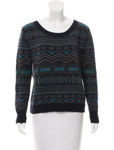 Haute Hippie Wool Patterned Sweater None