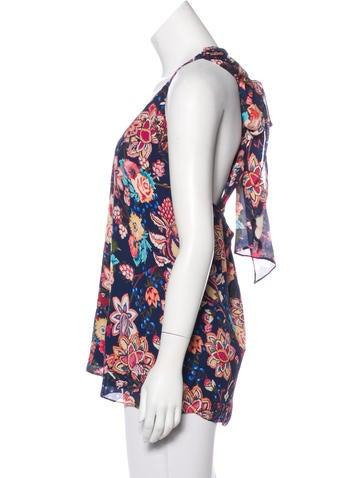 Silk Floral Print Top w/ Tags