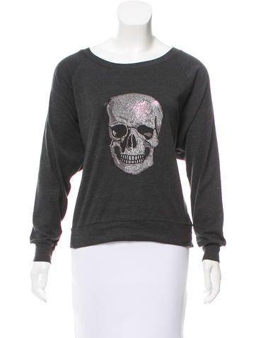 Haute Hippie Skull Embellished Pullover Sweatshirt None