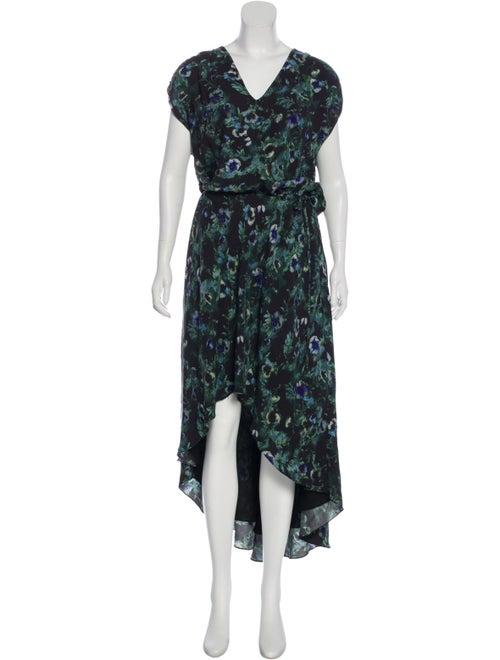 Haute Hippie Sleeveless Maxi Dress Green