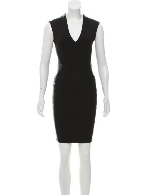 Haute Hippie Studded Mini Dress Black