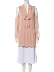 Haute Hippie Silk Tie Neck Tunic