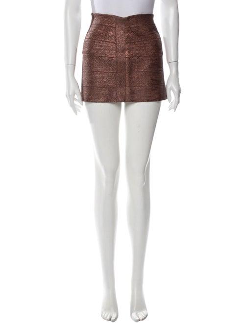 Haute Hippie Mini Skirt w/ Tags Metallic