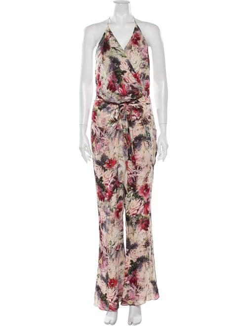 Haute Hippie Silk Floral Print Jumpsuit