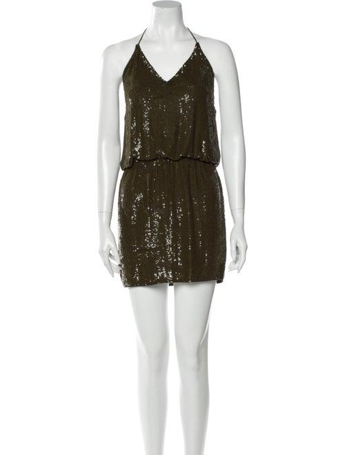 Haute Hippie Silk Mini Dress Green