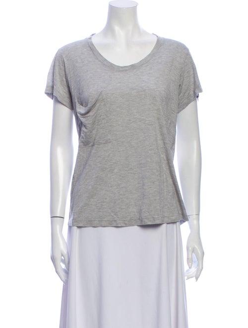 Haute Hippie Scoop Neck Short Sleeve T-Shirt Grey