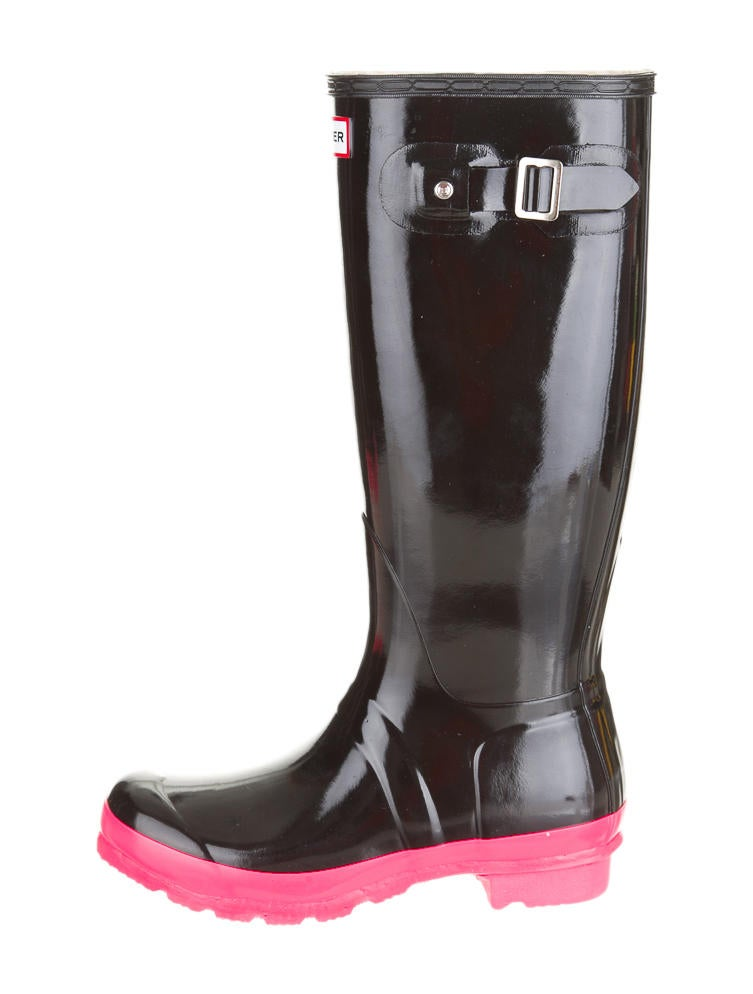 Pink And Black Rain Boots - Boot 2017