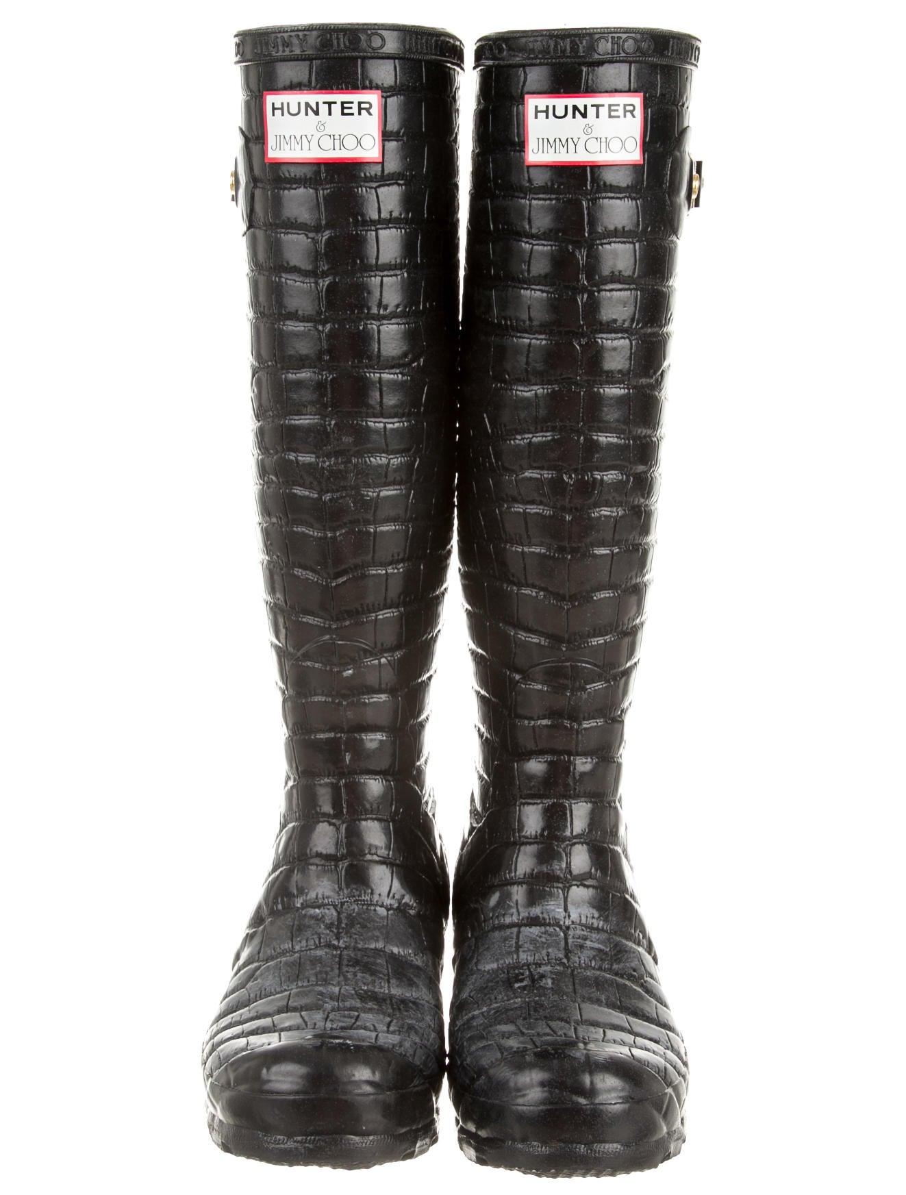 ff61b08532e ... best price jimmy choo x hunter rain boots e7d85 b3f82