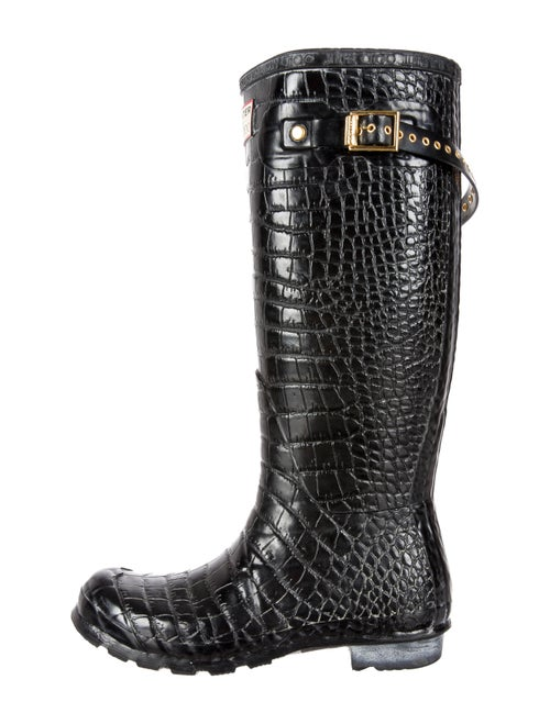 0c0774ce1b8 Hunter x Jimmy Choo Wellington Boots - Shoes - WH820494 | The RealReal
