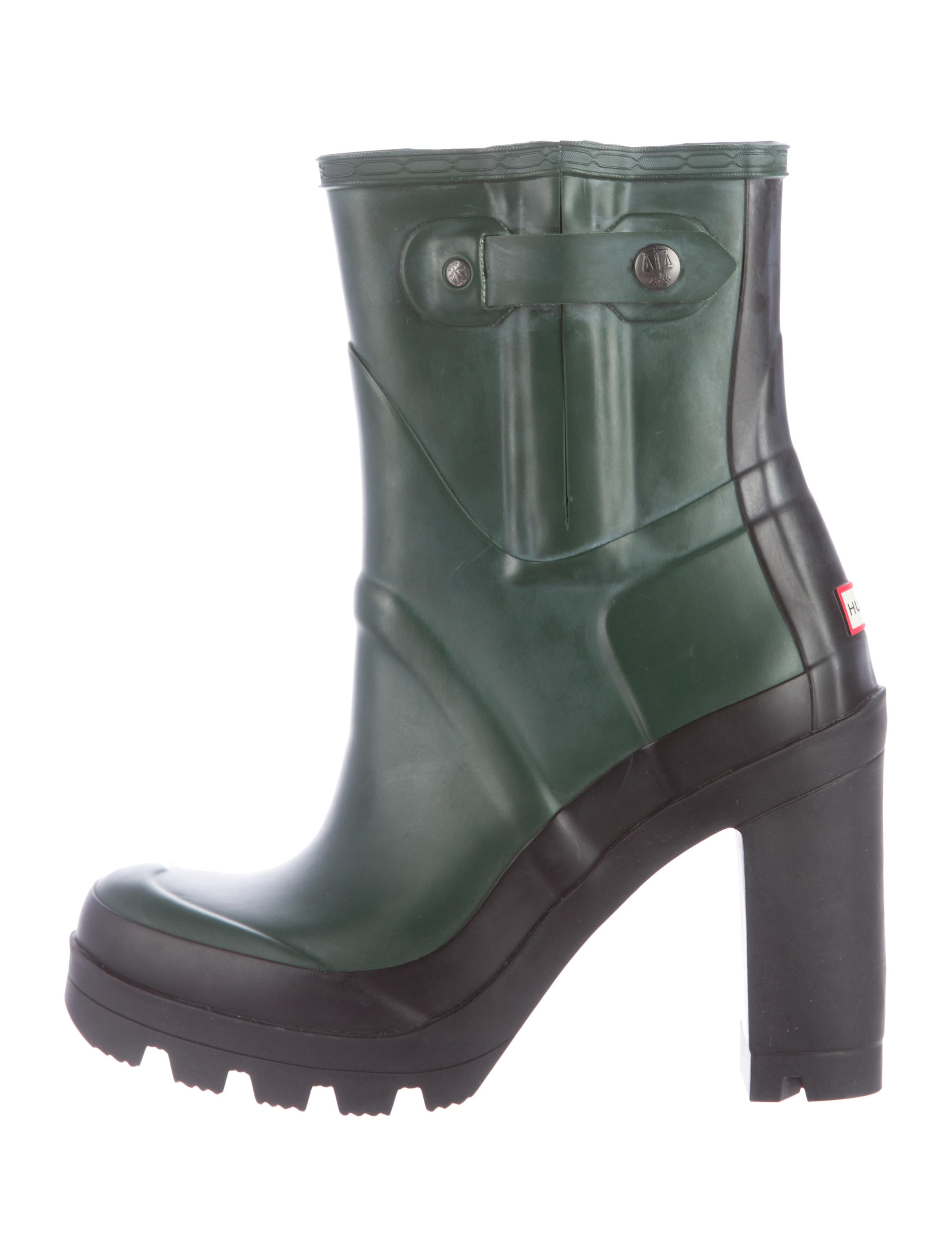 Hunter Rubber Ankle Boots - Shoes - WH821074 | The RealReal