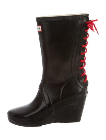 Log Wedge Rain Boots